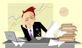 Hombre de negocios pensativo Imagen de archivo