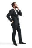 Hombre de negocios pensativo en desgaste formal Fotografía de archivo