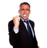 Hombre de negocios positivo emocionado Fotos de archivo