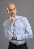 Hombre de negocios preocupante Looking Away Foto de archivo libre de regalías