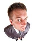 Hombre de negocios preocupante que mira a usted Fotos de archivo