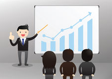 Hombre de negocios Presentation Concept Imagen de archivo