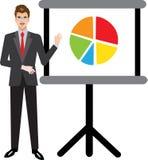 Hombre de negocios Presenting con el retroproyector - ejemplo del vector libre illustration