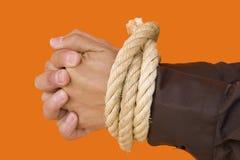 Hombre de negocios Prisonear Imagen de archivo libre de regalías