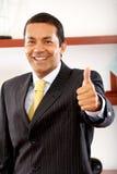 Hombre de negocios - pulgares para arriba Foto de archivo libre de regalías