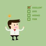 Hombre de negocios Quality Checklist libre illustration