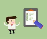 Hombre de negocios Quality Checklist stock de ilustración