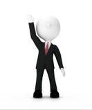 Hombre de negocios que aumenta la mano para arriba, trayectoria de recortes incluida Imagen de archivo libre de regalías