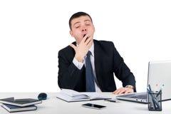 Hombre de negocios que bosteza fotografía de archivo libre de regalías