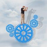 Hombre de negocios que busca éxito desafío Imagen de archivo libre de regalías