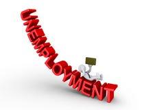 Hombre de negocios que cae del desempleo Fotos de archivo