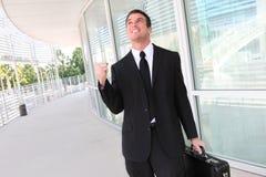 Hombre de negocios que celebra éxito Imagen de archivo libre de regalías
