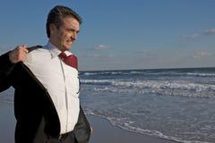 Hombre de negocios que consigue desnudado Foto de archivo libre de regalías