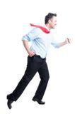 Hombre de negocios que corre rápidamente Imagen de archivo libre de regalías