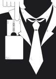 Hombre de negocios que es sobornado Imagenes de archivo