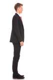 Hombre de negocios que espera en cola Foto de archivo libre de regalías