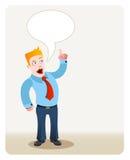 Hombre de negocios que habla libre illustration