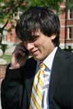 Hombre de negocios que habla en el teléfono celular Fotografía de archivo