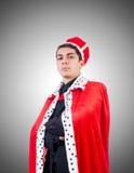 Hombre de negocios que juega al rey Fotografía de archivo libre de regalías