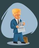 Hombre de negocios que lee un periódico Imagenes de archivo