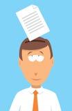Hombre de negocios que memoriza un documento Imágenes de archivo libres de regalías