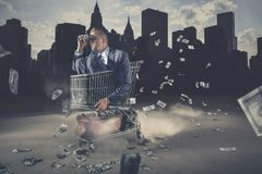 Hombre de negocios que mira adelante Imágenes de archivo libres de regalías