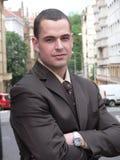 Hombre de negocios que mira directamente Fotos de archivo