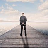 Hombre de negocios que mira el mar fotografía de archivo libre de regalías