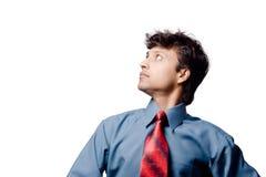 Hombre de negocios que mira hacia arriba Fotografía de archivo libre de regalías