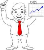 Hombre de negocios que muestra buenos resultados libre illustration