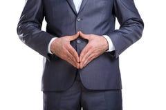Hombre de negocios que muestra su actitud Fotografía de archivo
