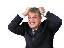 Hombre de negocios que parece desesperado Imagen de archivo libre de regalías
