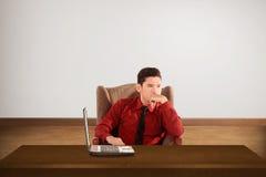 hombre de negocios que piensa algo Fotografía de archivo
