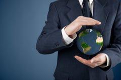 Proteja la tierra del planeta Imagen de archivo libre de regalías