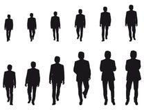 Hombre de negocios que recorre Imagen de archivo