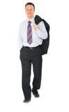 Hombre de negocios que recorre foto de archivo libre de regalías