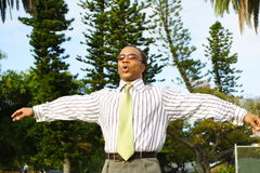 Hombre de negocios que respira Imagen de archivo