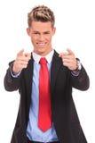 Hombre de negocios que señala el dedo Imagen de archivo