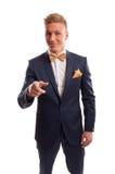 Hombre de negocios que señala en usted Foto de archivo