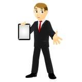 Hombre de negocios que sostiene una tableta Fotos de archivo libres de regalías