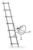 Hombre de negocios que sube para arriba stock de ilustración