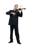 Hombre de negocios que toca el violín Imágenes de archivo libres de regalías