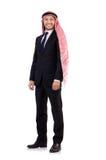 Hombre de negocios árabe aislado Imagen de archivo libre de regalías