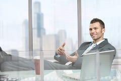 Hombre de negocios Relaxed Imágenes de archivo libres de regalías