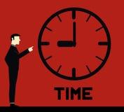 Hombre de negocios Remember Time Fotografía de archivo libre de regalías