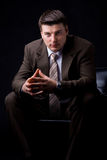 Hombre de negocios rico confiado Foto de archivo
