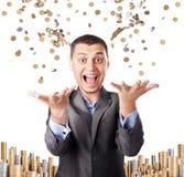 Hombre de negocios rico feliz Imágenes de archivo libres de regalías