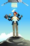 Hombre de negocios Between Rock y concepto duro del lugar Fotografía de archivo libre de regalías