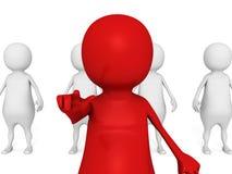Hombre de negocios rojo Of Team Group del líder Reclutamiento de los voluntarios Fotos de archivo