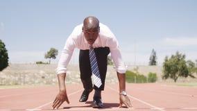 Hombre de negocios Running almacen de video